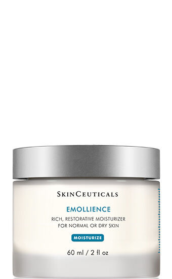 Emollience is formulated with an exclusive combination of natural extracts and essential oils making it a rich, restorative face moisturizer for dry skin and sensitive skin types. This face moisturizer features an elegant, gentle formula and an easy application texture. Nourishes and hydrates the skin Restores and maintains skin moisture levels Absorbs quickly and evenly Optimal for high altitudes and cold or dry climates Ideal for dry or sensitive skin types